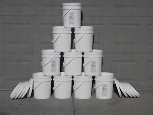 10 5 Gallon Food Grade Bucket Pail Container Hydroponic