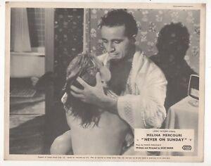 034-NEVER-ON-A-SUNDAY-034-MELINA-MERCOURI-EIGHT-1960-LOBBY-CARDS