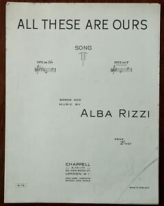 All These Are Ours by Alna Rizzi – Pub. 1948