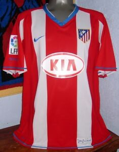 sports shoes 6b0ec 4f6a1 Details about NIKE ATLETICO MADRID SPAIN LFP KUN AGUERO XL 2007-08 ORIGINAL  JERSEY SHIRT