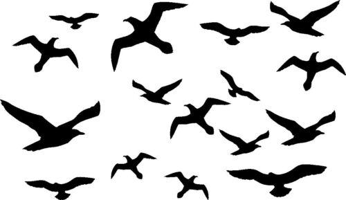 15 Vogel Schutz Aufkleber Wintergarten Glas Fenster Vogelschutz
