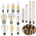 Retro Vintage LED Edison Filament Bulb Dimmable A60/ST64/G80/T45/G45/T30 85-265V