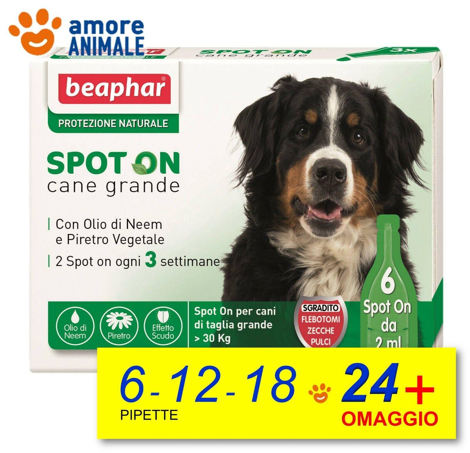 Beaphar Spot On Protezione Naturale Cane Grande oltre 30 kg 6  12  18  24 pip