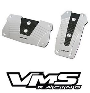 VMS-RACING-ALUMINUM-PEDAL-PAD-COVER-KIT-AUTO-TRANSMISSION-AT-2PC-SILVER-2