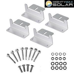 Mighty Max Solar Panel Mounting Z Bracket Kit For 100 Watt