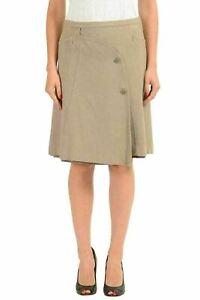 Gianfranco-Ferre-GF-Women-039-s-100-Wool-Beige-A-Line-Skirt-US-26-IT-40