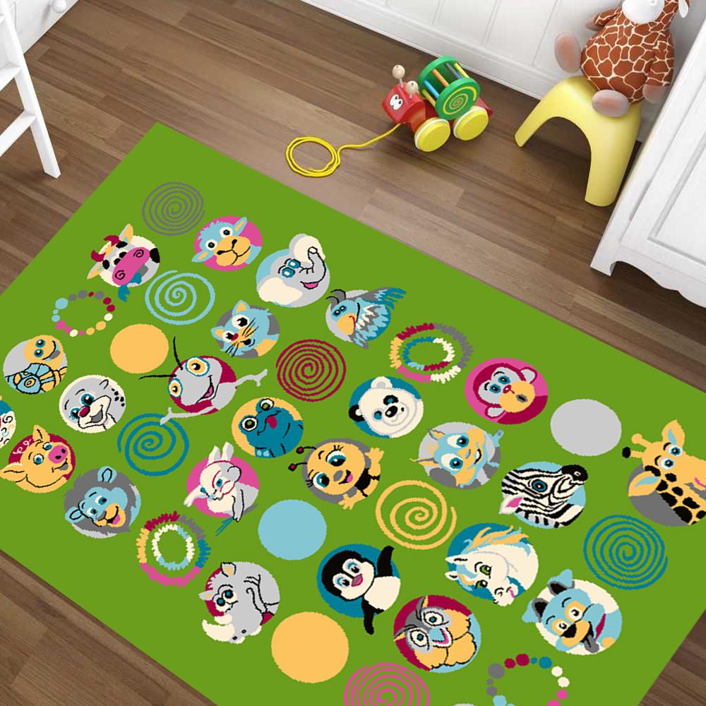 Alfombra de juegos niños alfombra habitación infantil tierpussel verde Cool verde tierpussel dif. tamaños 958414
