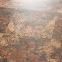 Vinyl Floor Tiles Self Adhesive Peel And Stick Large Slate Stone Flooring 18x18