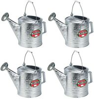 4 Behrens 210 2.5 Gallon Galvanized Metal Steel Watering / Sprinkling Cans