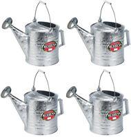 4 Behrens 210 2.5 Gallon Galvanized Metal Steel Watering / Sprinkling Cans