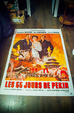 55 DAYS AT PEKIN 4x6 ft Bus Shelter Vintage Original Movie Poster 1963