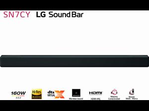 Barra de sonido - LG SN7CY, Dolby Atmos, 160W, Inalámbrico, Bluetooth, Negro