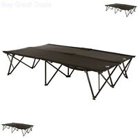 Two Person Folding Cot Double Steel Frame Camping Outdoors Bed Tent Heavy Duty