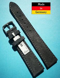 Velour-Uhrenarmband-fur-Nomos-18-20mm-dunkelgrau-weich-Made-in-Germany