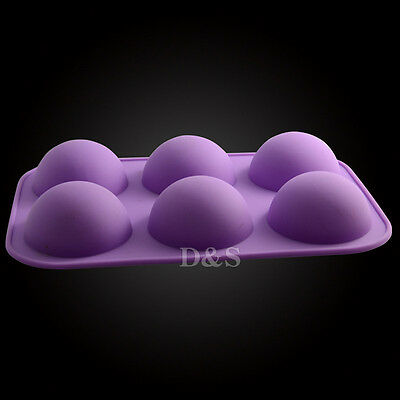 S 5cm Dia Half Ball Sphere Chocolate Cake Muffin Pastry JellY Silicone Mold Tray