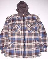 Northwest Territory Men's Hooded Shirt Jacket Plaid Adult Size Small