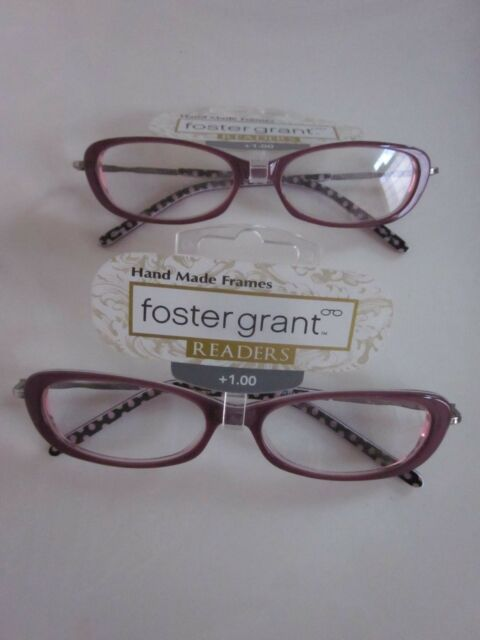 CLEARANCE!!!  New FOSTER GRANT - 2 prs Reading Glasses-Hand Made Frames -  +1.00