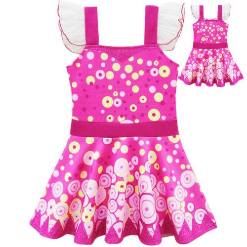US STOCK Kids Girls Movie Mia And Me Dress Costume Tutu Skirt Dress o31b