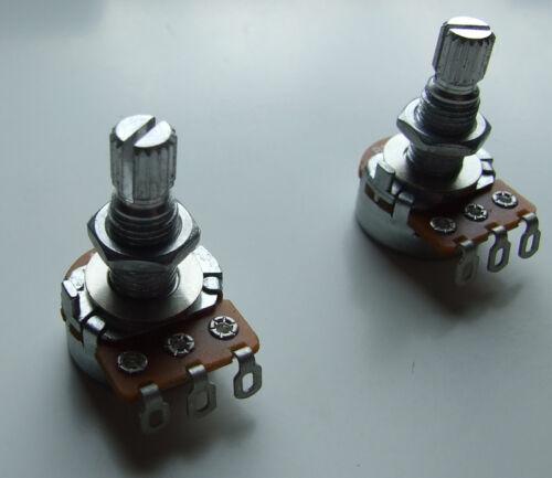 Alpha 500K split shaft potentiometers mini pot sets for Tele Strat or Les Paul
