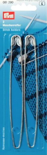 Prym Metal Safety Pin Knitting Stitch Holders Pack of 2