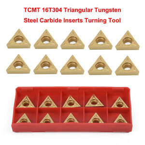 """10x TCMT16T304 Tungsten Carbide Inserts TCMT 32.51 For 1//2/"""" Lathe Turning Tools"""