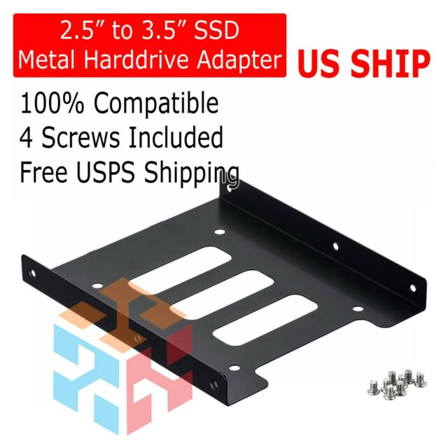 2 5 To 3 5 Internal Ssd Hdd Mounting Kit Metal Bracket Adapter With Sata For Sale Online Ebay