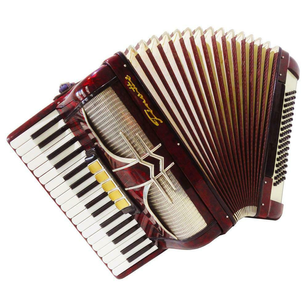 Firotti, Piano Accordion, 80 Bass 8 registers, made in Germany, New Straps, 1155