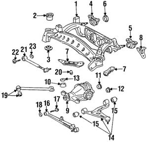 Genuine Toyota Supra MK4 Left Rear Lower Control Arm Assembly 48740-14070