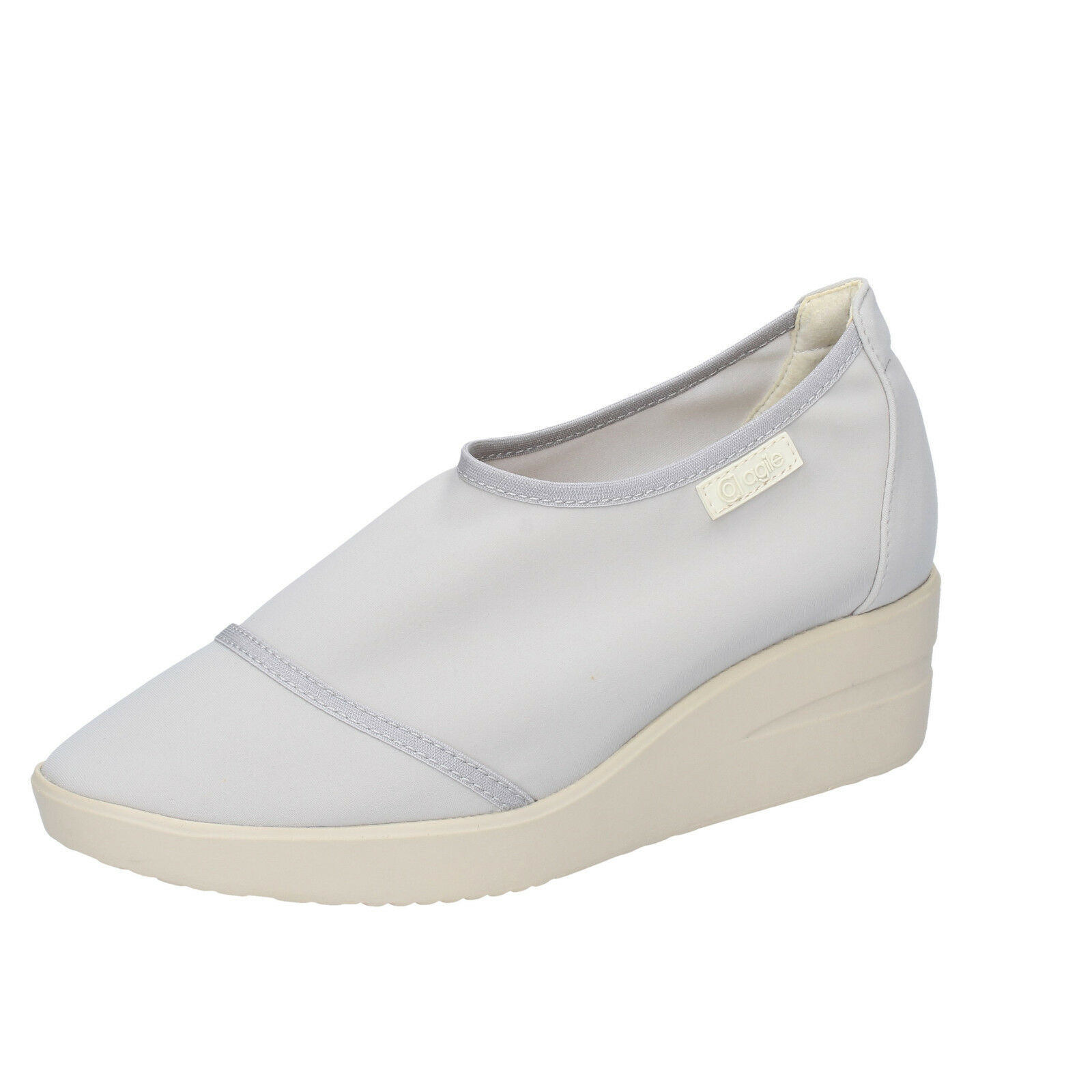 Scarpe da donna agile by Rucoline 39 UE Slip on grigio tessile bt433-39