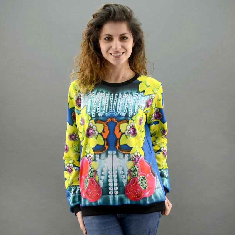 Shop Art Women's Sweatshirt I'M BAD bluee Mod. Bad