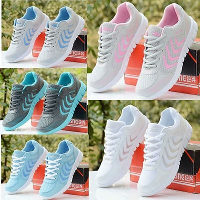 Fashion Women's Breathable Recreational Sports Running Casual Flat shoes