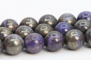 8MM-Natural-Purple-Pyrite-Gemstone-Beads-Grade-AAA-Round-Loose-Beads-15-5-034