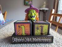 Halloween Countdown Perpetual Calendar: Witch