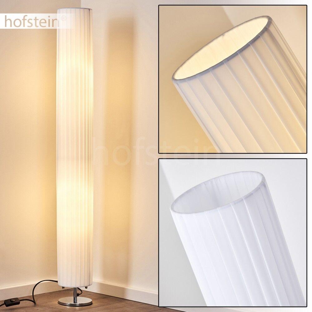 Boden Stand Leuchten Steh Lampen Retro Wohn Schlaf Raum Beleuchtung Stoff weiß