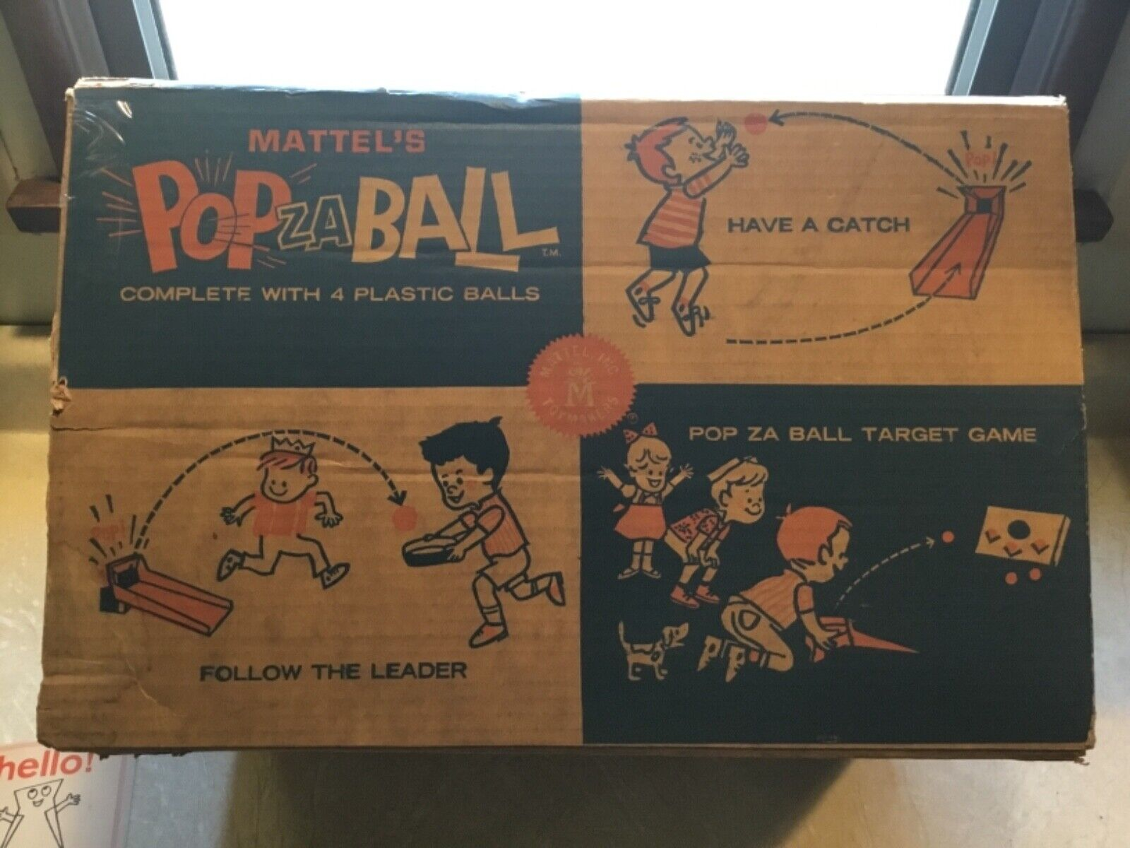 Mattel's Pop Za Ball (Boxed) very rare game  VINTAGE MATTEL  sealed balls lot
