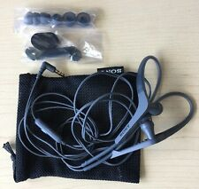 Genuine Sony MDR-AS410AP(Black)Sports In-Ear Headphones-Free Shipping