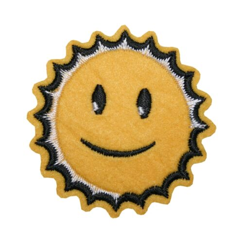 Aufnäher Bügelbild Aufbügler Sonne 60x60mm 1116