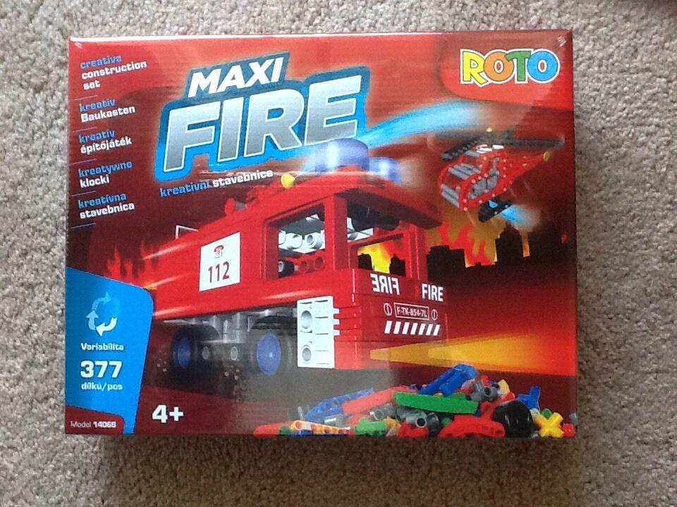 NEW MAXI FIRE BY redO CREATIVE CONSTRUCTION TOY SET SET SET 377 PCS - AGES 4+ 5ac5ea