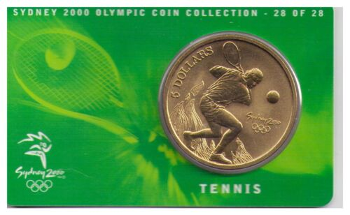 Tennis 2000 $5 RAM UNC Coin -Sydney Olympics 28 of 28 NO OUTER COVER