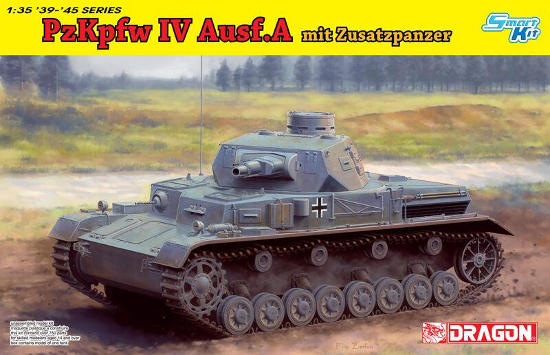 DRAGON 6816 1 35 Pz.Kpfw.IV Ausf.A mit Zusatzpanzer