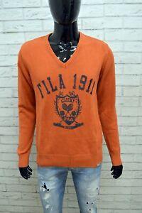 Maglione-Uomo-FILA-ACADEMY-Taglia-M-Maglia-Felpa-Scollo-a-V-Sweater-Man-Cardigan