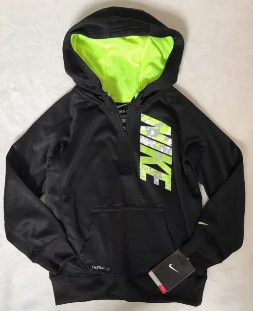 Nike Boys Size 4 KO 3.0 Therma-Fit Pullover Hoodie Crimson