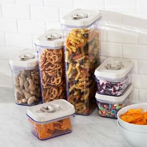 Image Is Loading 12 Piece Kitchenware Stackable Container Locking Lid Food