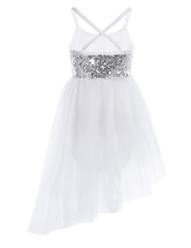 Kids Girls Gymnastics Ballet Dance Leotard Dance Dress Leotards Costume UK Stock