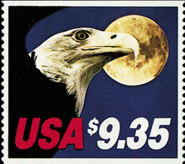 1983 $9.35 Express Mail, Eagle & Moon Scott 1909 Mint F
