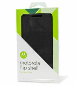 NEW Motorola Moto X Play Flip Shell Cover - Black