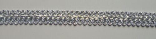 1 m Brokat-Band geschlungen silber  ca.15 mm breit
