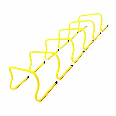 "NEW! 6x 12"" Sports Agility Hurdles Football Rugby Running Speed Training"