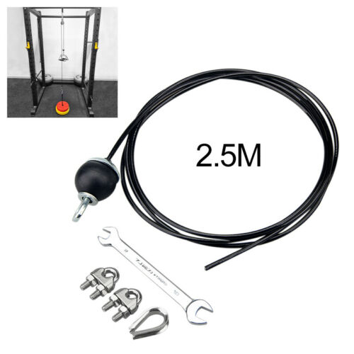 DIY Fitness Pulley Cable Machine Attachment System Triceps Rope Machine Workout