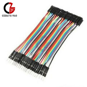 40pcs Male Female Dupont Wire Cables Jumper 10cm 2.54MM 1P For Arduino